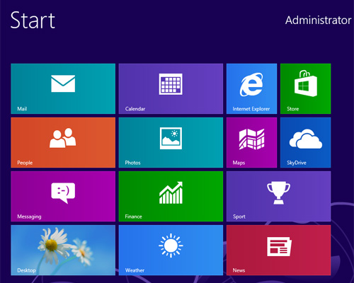 pulsante start in windows 8