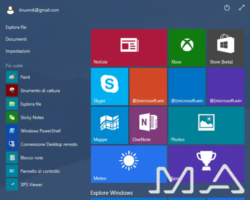 windows 10 in anteprima