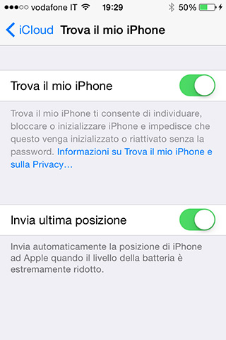 Iphone non disinstalla trova il mio iphone