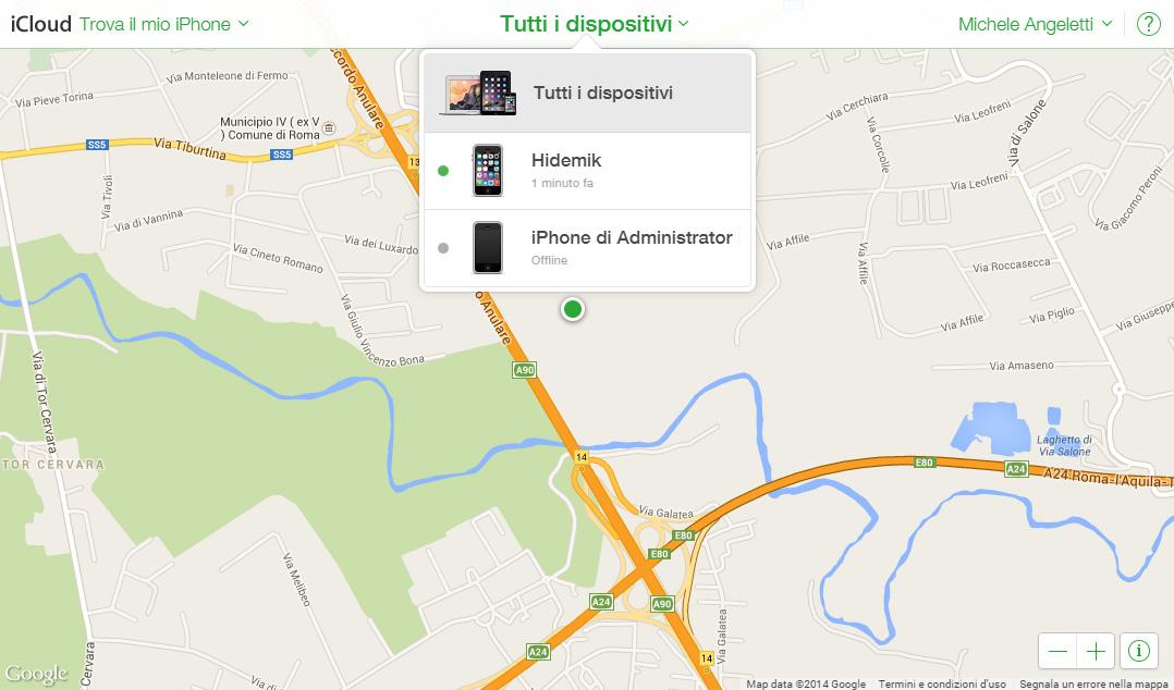 come ritrovare un iphone perso spento