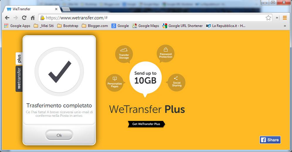 Michele Angeletti - Inviare allegati pesanti con Wetransfer